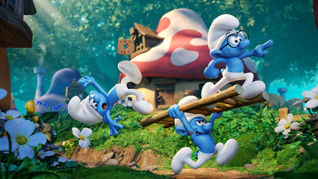 Joe Manganiello talks about playing Hefty Smurf in the upcoming Smurfs: The Lost Village.