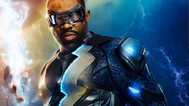 Take a look at the Black Lightning costume. What do you think of the Black Lightning costume?