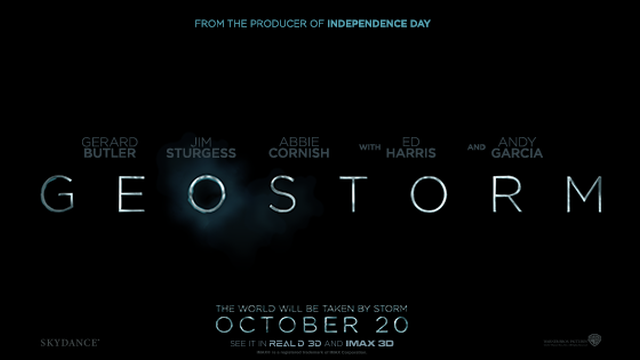 Warning: The Geostorm Trailer is Here!