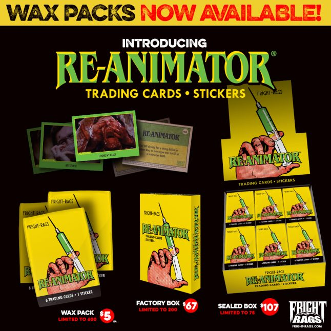 Get A-head with these Re-Animator Trading Cards