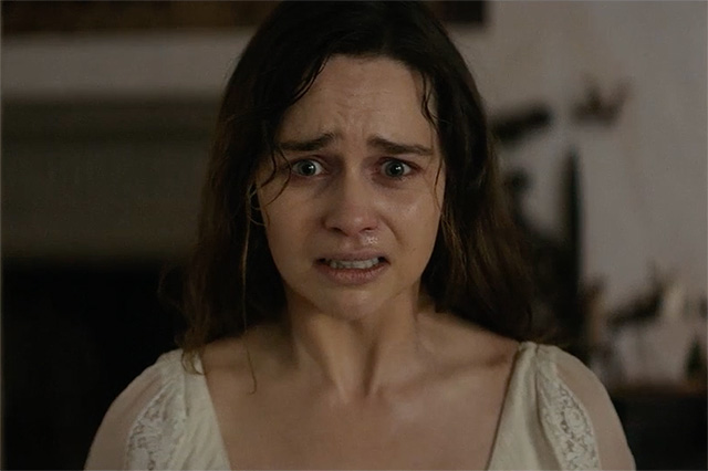 Emilia Clarke in the Voice from the Stone Trailer