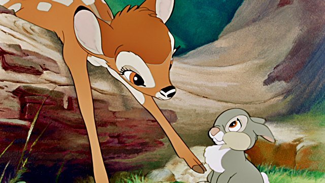 Disney Legends Donald Dunagan and Peter Behn voiced young Bambi and Thumper.