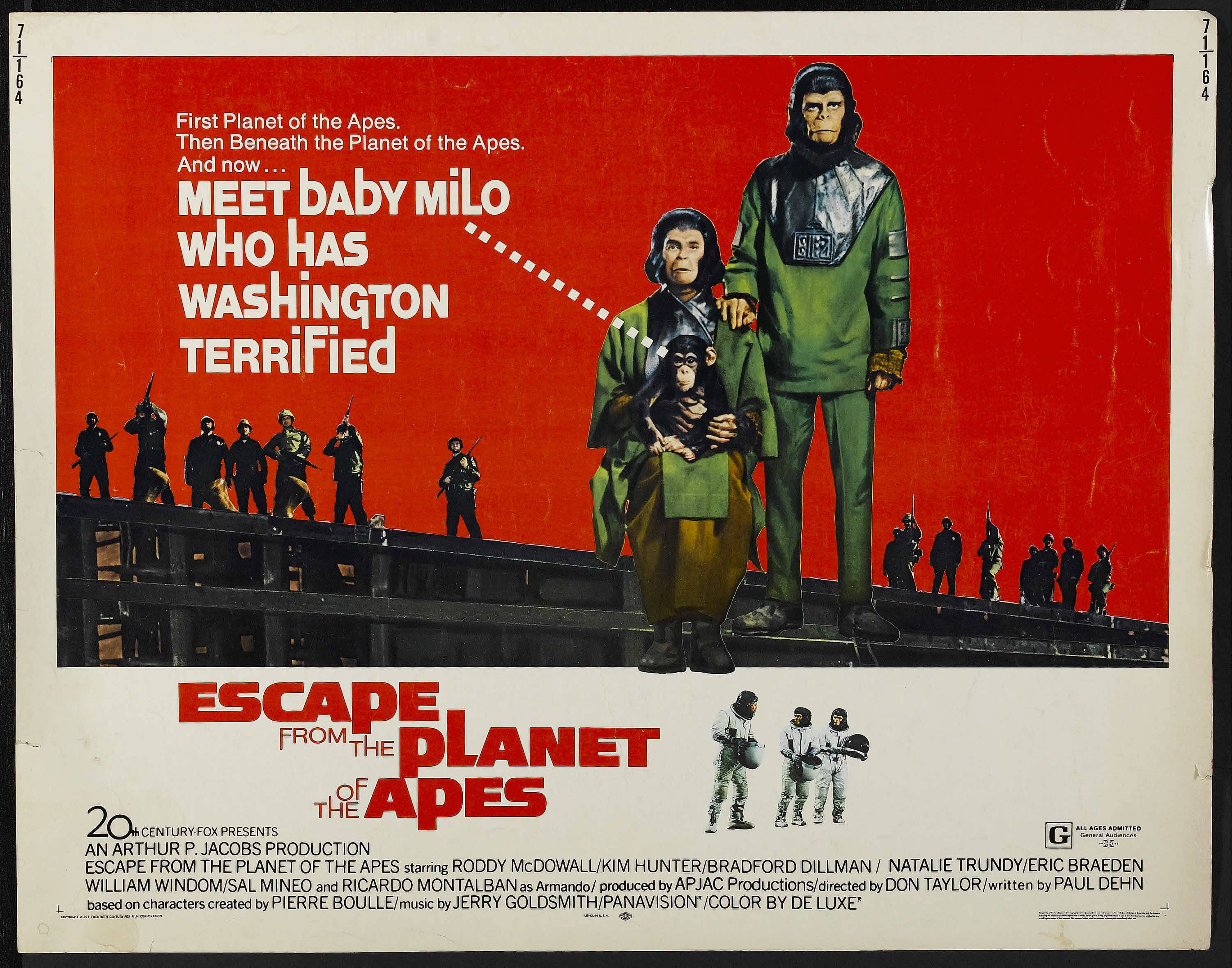 Escape From the Planet of the Apes continued the Planet of the Apes franchise by sending characters back in time. What's your favorite Planet of the Apes franchise entry?