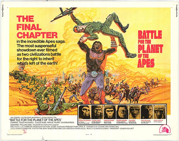 Battle for the Planet of the Apes was the last of the original Planet of the Apes franchise entries.