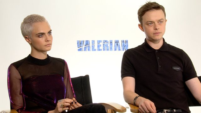 Sit down with Luc Besson and his Valerian cast. The Valerian cast includes Dane DeHaan and Cara Delevingne.