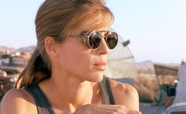 Linda Hamilton is another solid choice for our ass-kicking women list.