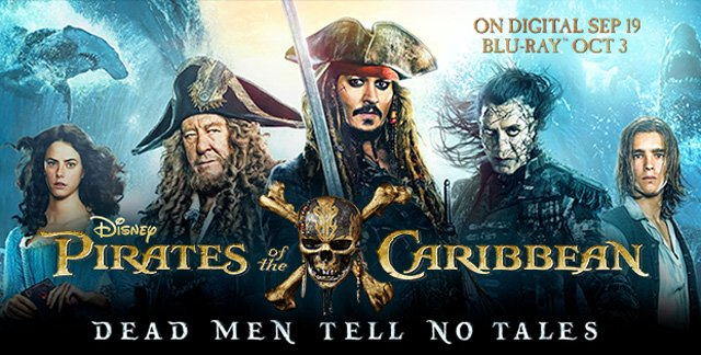 Pirates of the Caribbean Digital HD, 4K Ultra and Blu-ray Release Announced