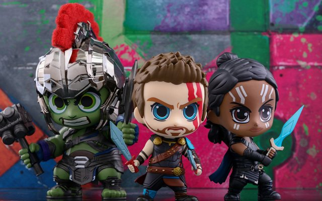 The Thor: Ragnarok Cosbaby Bobblehead Series!