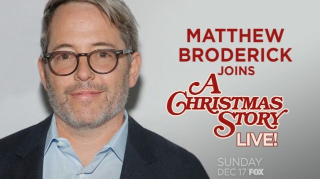 Matthew Broderick is set to narrate A Christmas Story Live! for Fox this December