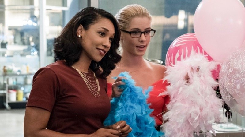 """Girls Night Out"" - (8:00-9:00 p.m. ET) (TV-14, DLV) (HDTV) KATEE SACKHOFF (""BATTLESTAR GALACTICA"") AND EMILY BETT RICKARDS (""ARROW"") GUEST STAR - Having received an ominous threat from her old boss, Amunet (guest star Katee Sackhoff), Caitlin (Danielle Panabaker) fears that her past time as Killer Frost may be back to haunt her. Felicity (guest star Emily Bett Rickards) comes to Central City to help the girls celebrate Iris's (Candice Patton) bachelorette party, while Cisco (Carlos Valdes), Joe (Jesse L. Martin) and the guys take Barry out for a night on the town. Laura Belsey directed the episode written by Lauren Certo & Kristen Kim (#405). Original airdate 11/7/2017. Read more: Listings - FLASH, THE on The CW 