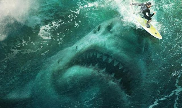 The Meg Sneaks Up on Jason Statham in First Photo