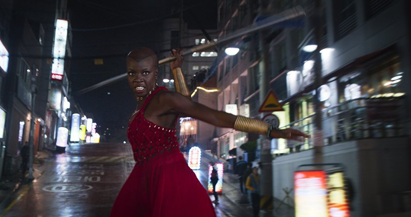 Danai Gurira Shares New Black Panther Clip on Jimmy Kimmel