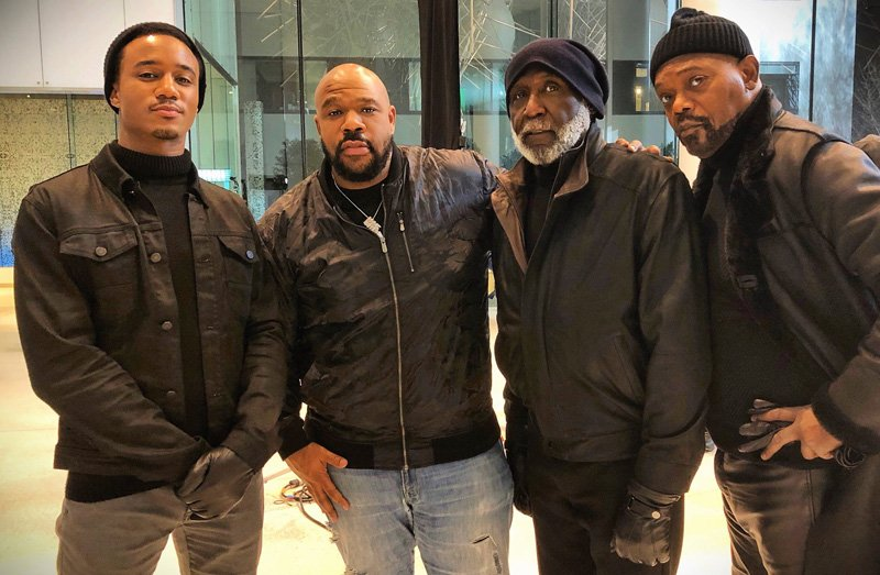 3 Generations of Shaft Actors Unite on Set of Reboot