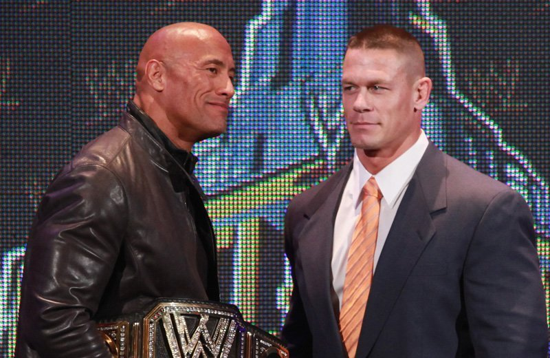 WWE superstars John Cena and The Rock team up for a movie
