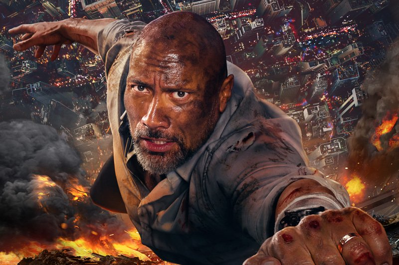 Watch Dwayne Johnson Intro From the Skycraper Premiere