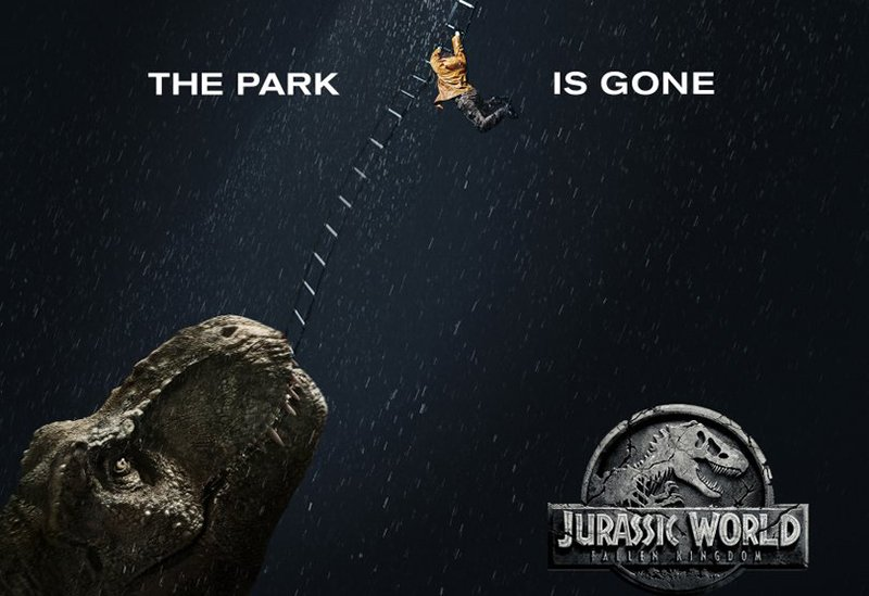 The Park is Gone in New Jurassic World: Fallen Kingdom IMAX Poster