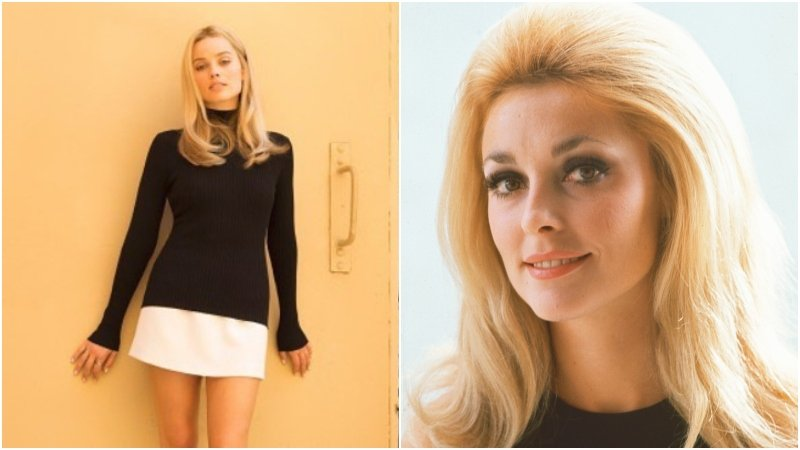 Look! Margot Robbie in character as Sharon Tate