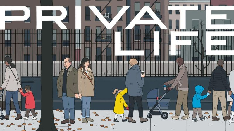 Netflix's Private Life Poster from Cartoonist Chris Ware Revealed