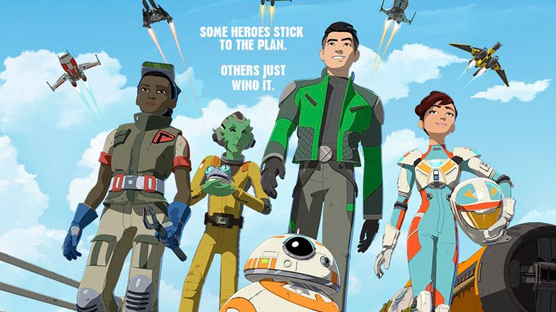 Star Wars Resistance Poster: Some Heroes Just Wing It
