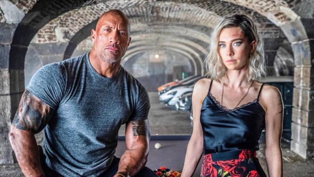 Dwayne Johnson Chases Vanessa Kirby in New Hobbs & Shaw Set Photo