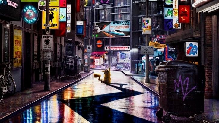 Welcome to Ryme City in Detective Pikachu Poster