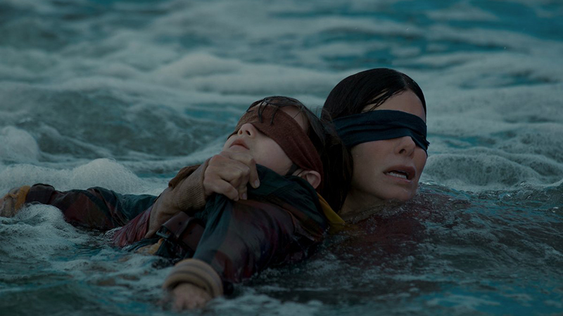 Netflix's Bird Box Photos Featuring Sandra Bullock Released
