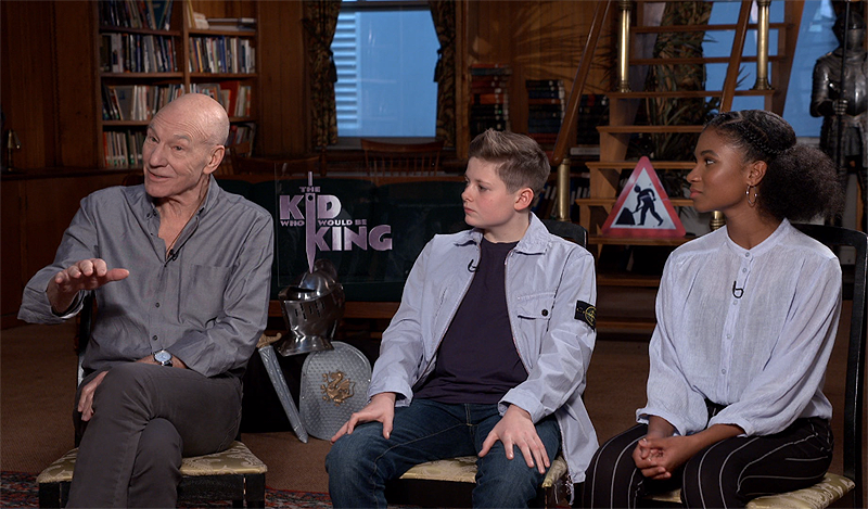 CS Video: Patrick Stewart & The Kid Who Would Be King Cast!