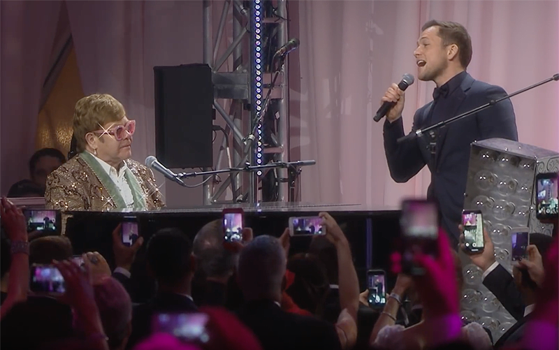 See Rocketman's Taron Egerton and Elton John Perform Tiny Dancer