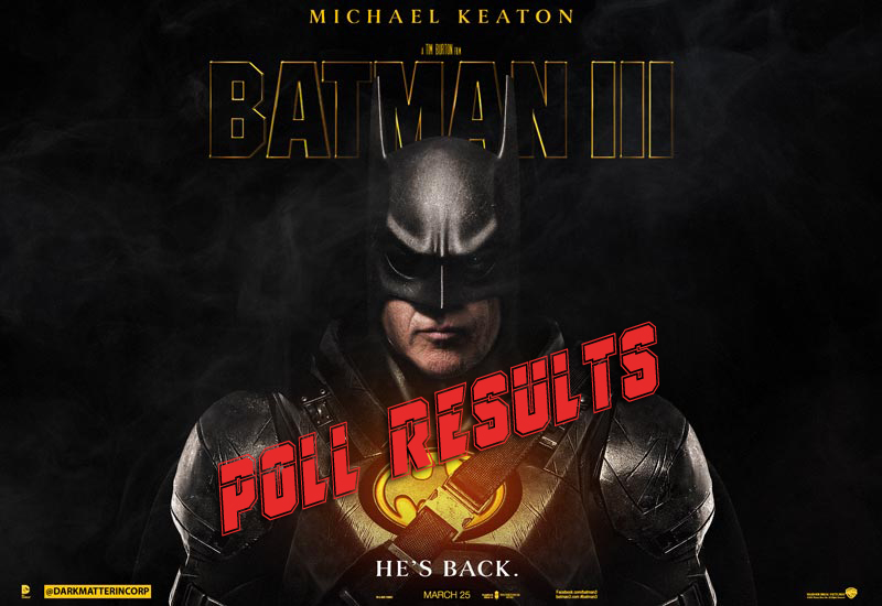 POLL RESULTS: Should Tim Burton and Michael Keaton Make a Third Batman?