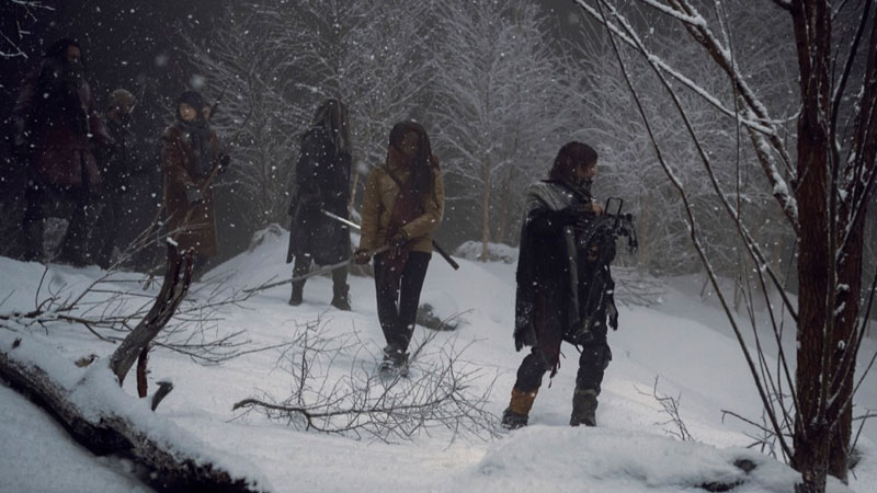 The Walking Dead's winter wonderland