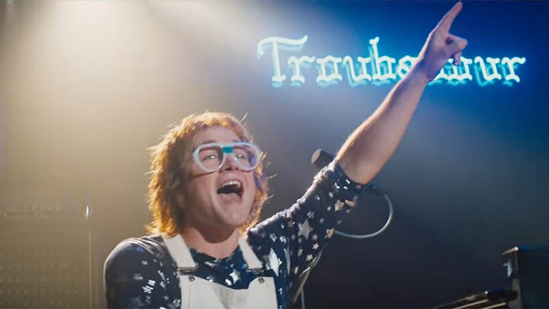 Taron Egerton Steps Up To The Mic For Rocketman Music Video