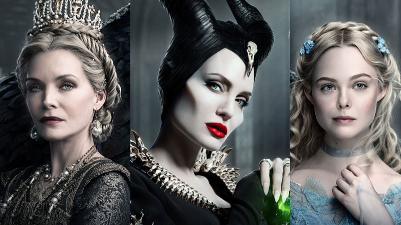 Maleficent Mistress Of Evil Triptych Poster Features All 3