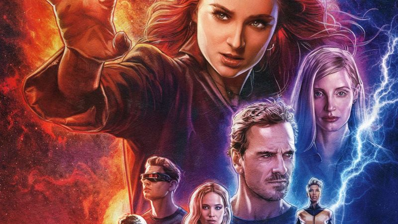 Illustrated Dark Phoenix Poster Debuts