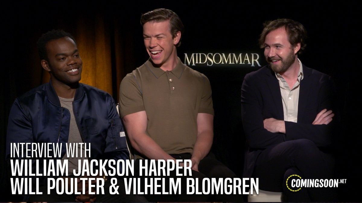 CS Video: William Jackson Harper, Will Poulter & Vilhelm Blomgren on Midsommar