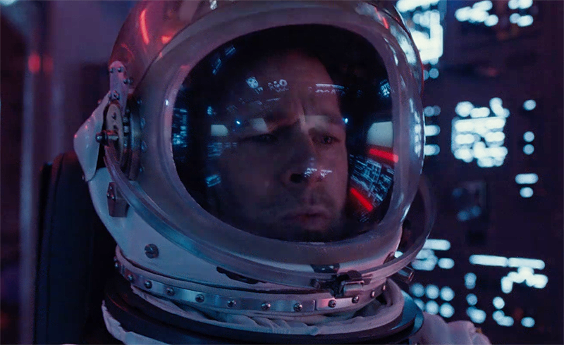 BRAD PITT Goes Into Space with New AD ASTRA Trailer