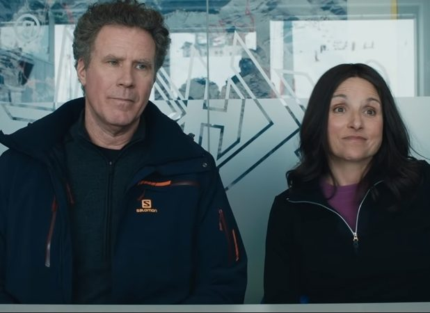 'Downhill' Trailer: Will Ferrell & Julia Louis-Dreyfus Star In 'Force Majeure' Remake