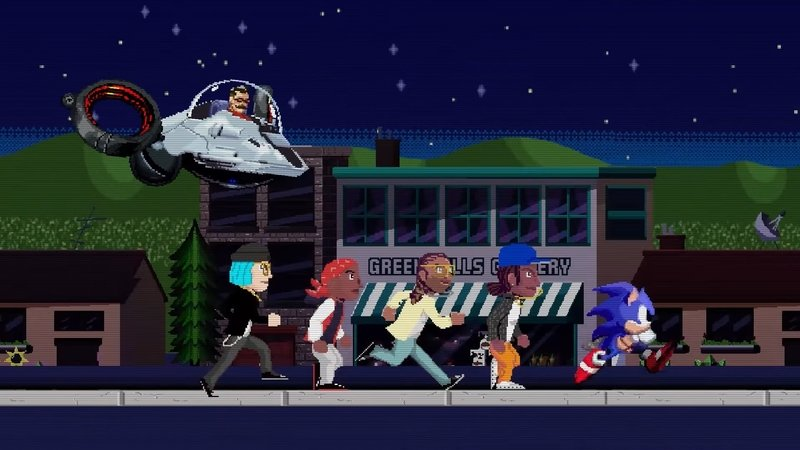 Sonic the Hedgehog: Wiz Khalifa Goes Inside a Video Game in Speed Me Up Music Video