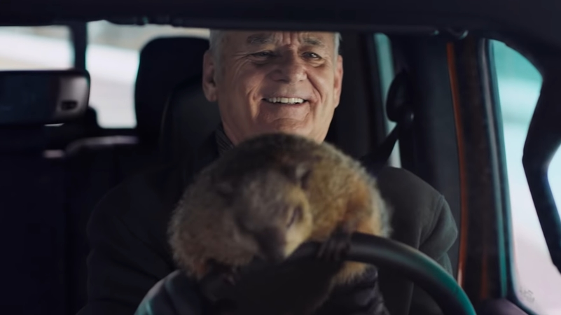 Bill Murray Gets Stuck in Another Groundhog Day in New Super Bowl Spot