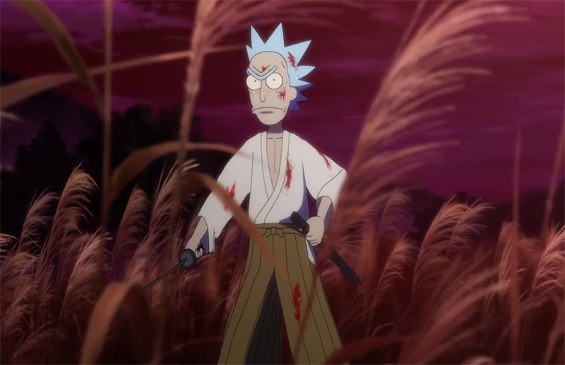 Rick and Morty Anime Short Goes Full Lone Wolf & Cub!