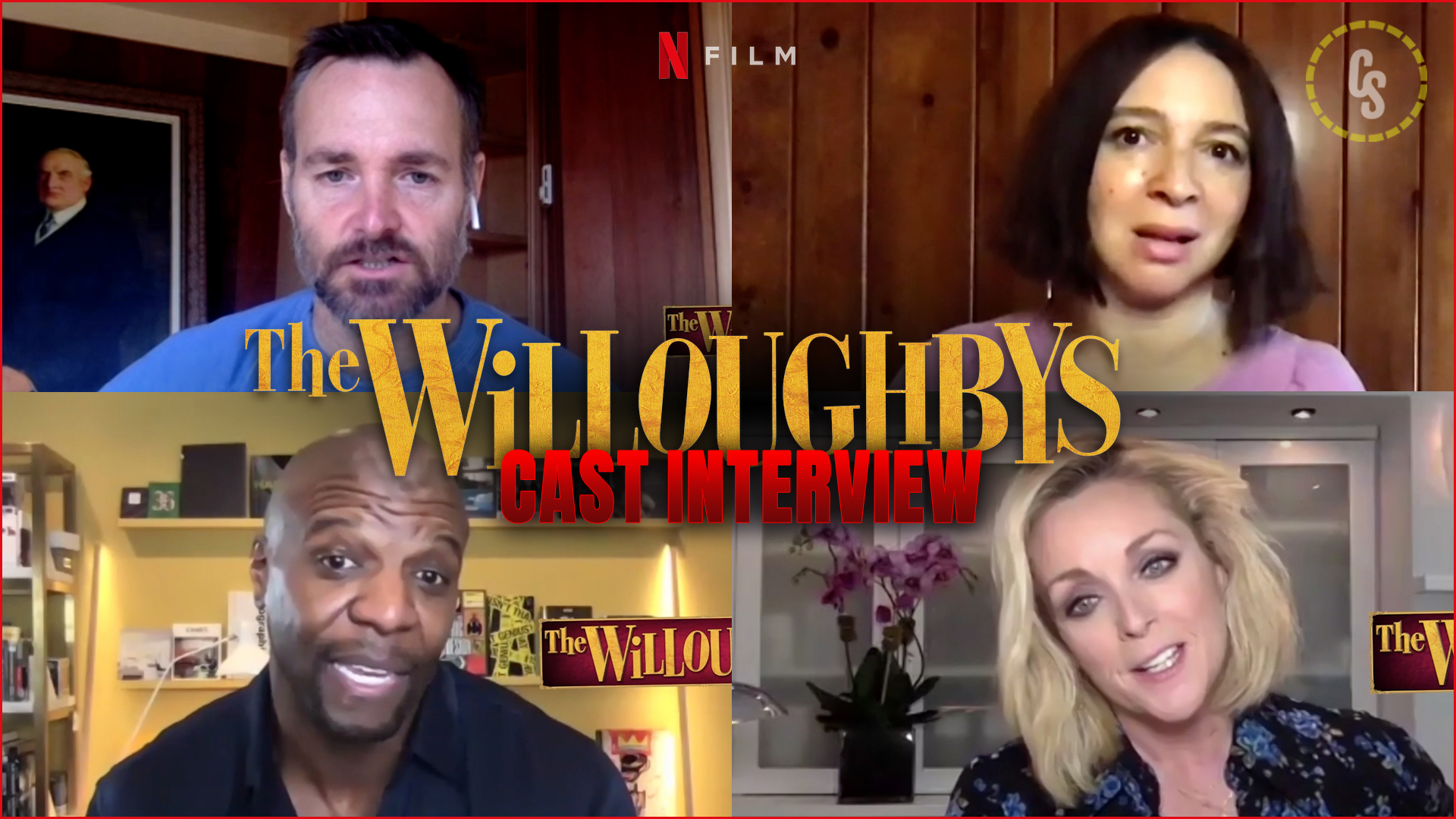 CS Video: The Willoughbys Interviews with Terry Crews, Maya Rudolph & More!