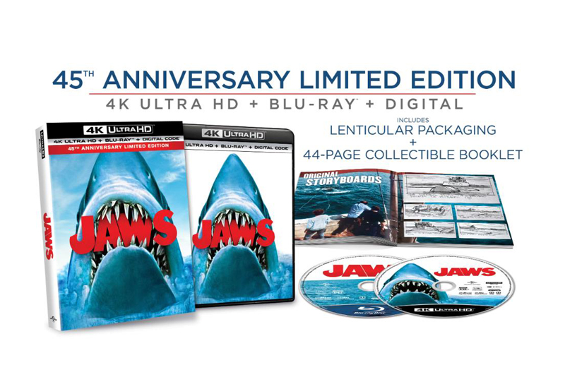 Steven Spielberg's Jaws 45th Anniversary 4K Blu-ray Coming