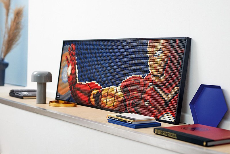 LEGO Unveils New LEGO Art Line With Marvel Studios' Iron Man