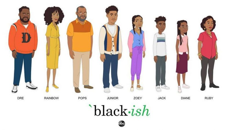 Black-ish Election Special Photos: First Look at Animated Johnson Family