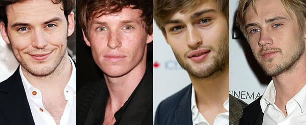(from left) Sam Claflin, Eddie Redmayne, Douglas Booth and Boyd Holbrook