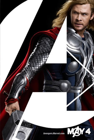 Thor Avengers character poster