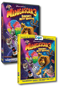Madagascar 3: Europe's Most Wanted on DVD Blu-ray today