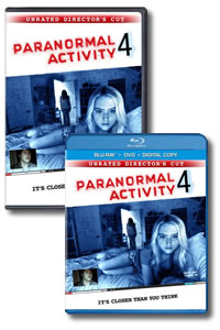 Paranormal Activity 4 on DVD Blu-ray today