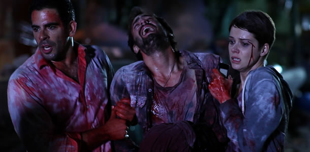 Eli Roth, Ariel Levy and Andrea Osvart in Aftershock