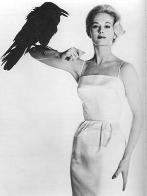 Promotional shot of Tippi Hedron for The Birds