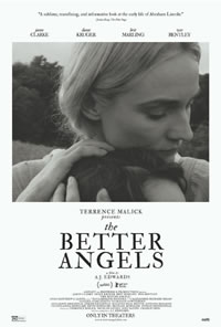 The Better Angels on DVD Blu-ray today